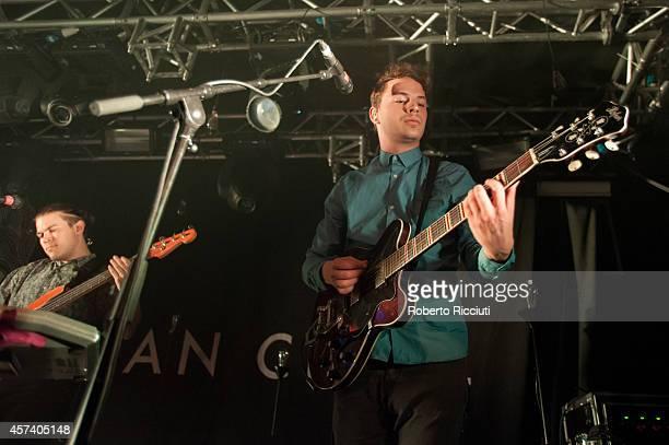 John Stark and Jethro Fox perform on stage at The Liquid Room on October 17, 2014 in Edinburgh, United Kingdom.