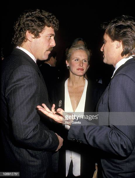 John Starke Glenn Close and Michael Douglas during The 1988 DW Griffith Awards at Lincoln Center Library in New York City New York United States