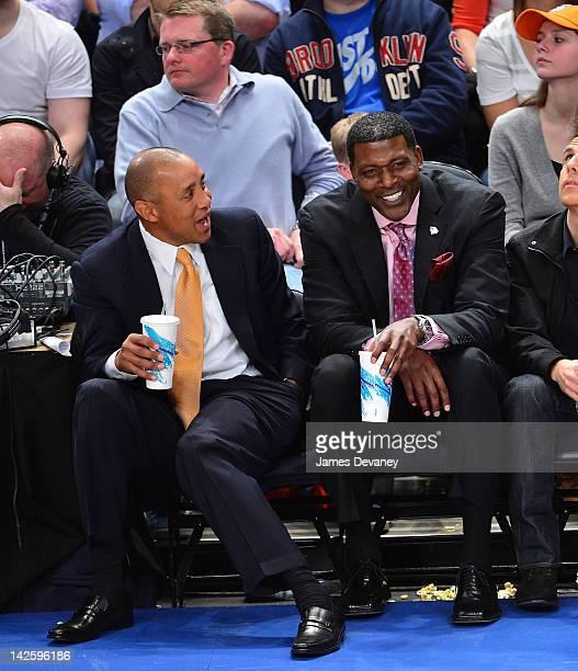 Celebrities Attend The Chicago Bulls Vs New York Knicks