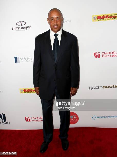 John Starks at the 17th Annual Harold Carole Pump Foundation Gala at The Beverly Hilton Hotel on August 11 2017 in Beverly Hills California