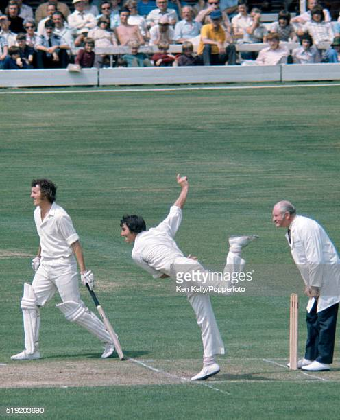 John Steele bowling for Leicestershire during the Benson Hedges Cup Final between Leicestershire and Surrey at Lord's cricket ground in London 20th...