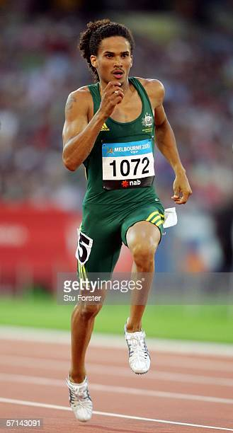 John Steffensen of Australia competes during the men's 400 metres semi final at the athletics during day six of the Melbourne 2006 Commonwealth Games...