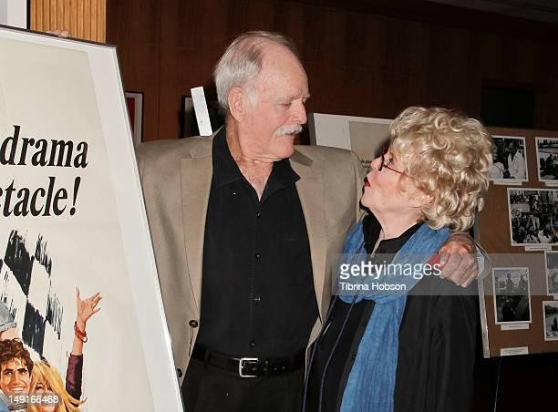 John Stephens and Evans Evans Frankenheimer attend the last 70mm film festival series screening of 'Grand Prix' at AMPAS Samuel Goldwyn Theater on...