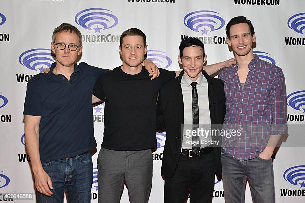 John Stephens Ben McKenzie Robin Lord Taylor and Cory Michael Smith attend 'Gotham' Cast and Filmmakers press line at Anaheim Convention Center on...