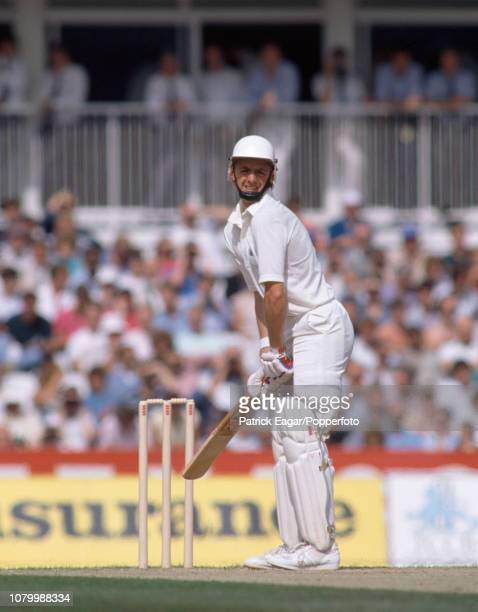 John Stephenson batting on his Test debut for England during the 6th Test match between England and Australia at The Oval London 26th August 1989 It...