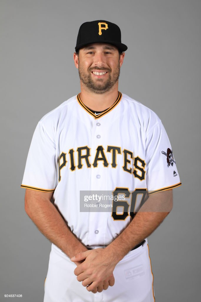 John Stilson #60 of the Pittsburgh Pirates poses during Photo Day on Wednesday, February 21, 2018 at LECOM Park in Bradenton, Florida.