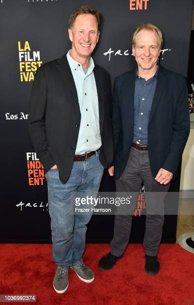 John Stimpson and Geoffrey Taylor attend 2018 LA Film Festival Opening Night Premiere Of 'Echo In The Canyon' at John Anson Ford Amphitheatre on...