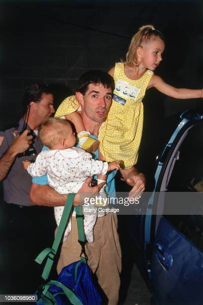John Stockton of the Utah Jazz arrives before the game against the Chicago Bulls on June 11 1997 at the Delta Center in Salt Lake City UT NOTE TO...