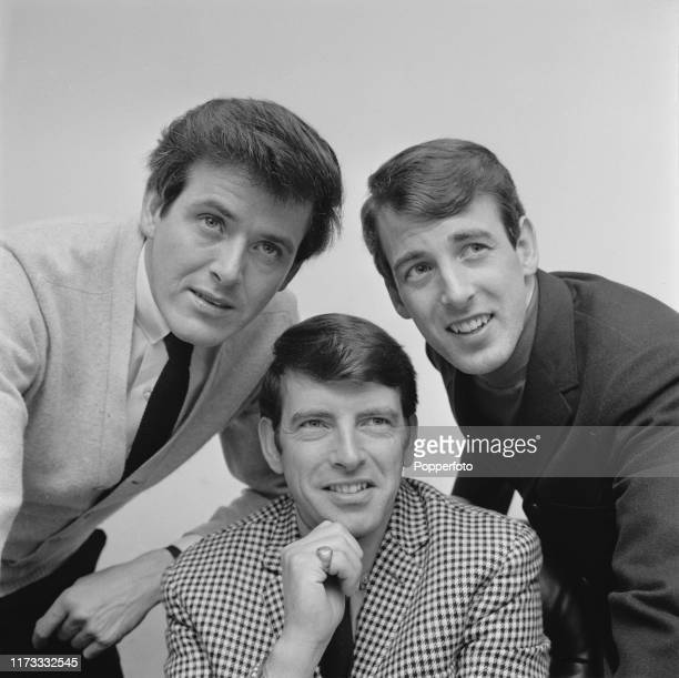 John Stokes, Conleth Cluskey and Declan Cluskey of Irish vocal group The Bachelors in July 1966.