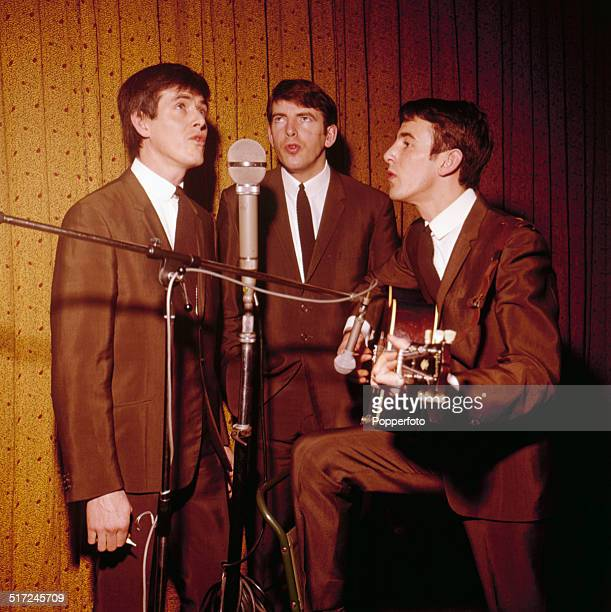 John Stokes, Conleth Cluskey and Declan Cluskey of Irish vocal group The Bachelors pictured in performance in 1964.