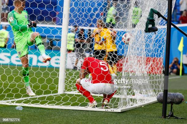 John Stones defender of England during the FIFA 2018 World Cup Russia Playoff for third place match between Belgium and England at the Saint...