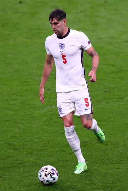 John Stones of England controls the ball during the UEFA Euro 2020 Championship Group D match between England and Scotland at Wembley Stadium on June...