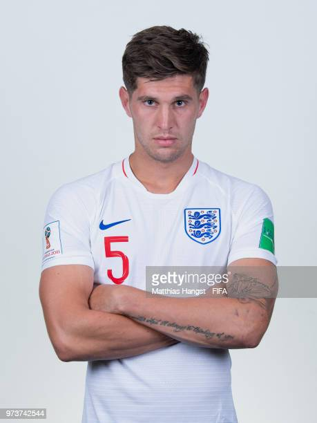 John Stones of England poses for a portrait during the official FIFA World Cup 2018 portrait session at on June 13 2018 in Saint Petersburg Russia