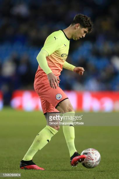 John Stones of Man City in action during the FA Cup Fifth Round match between Sheffield Wednesday and Manchester City at Hillsborough on March 4 2020...