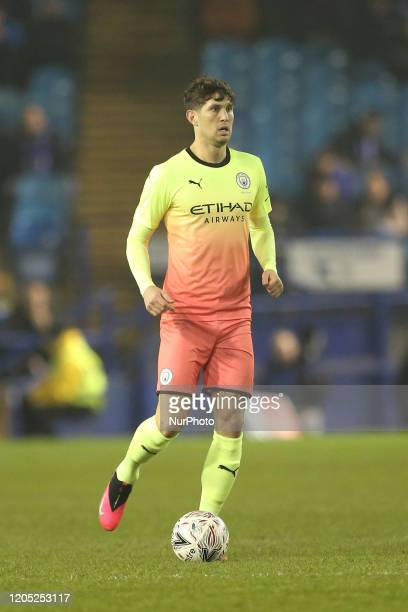 John Stones of Manchester City during the FA Cup Fifth Road match between Sheffield Wednesday and Manchester City at Hillsborough Sheffield on...