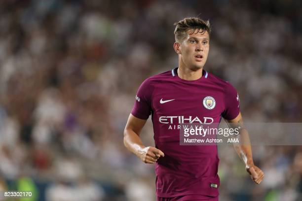 John Stones of Manchester City during the International Champions Cup 2017 match between Manchester City and Real Madrid at Los Angeles Memorial...