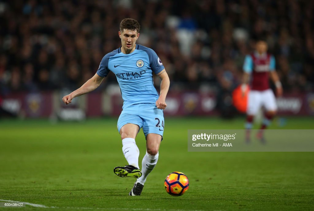 John Stones of Manchester City during the Premier League match between West Ham United and Manchester City at London Stadium on February 1, 2017 in Stratford, England.