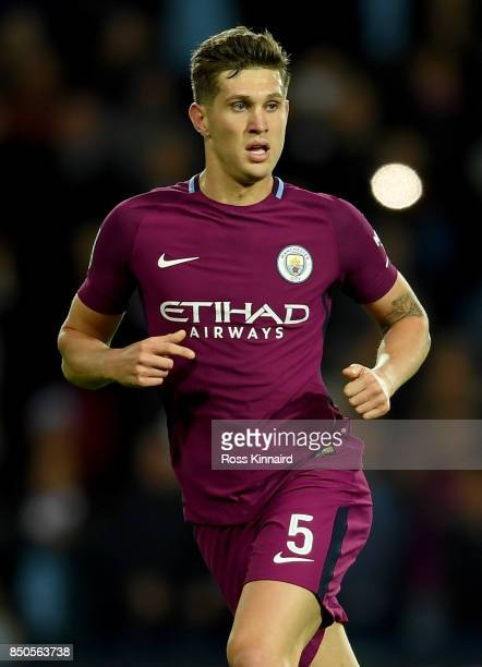 John Stones of Manchester City in action during the Carabao Cup third round match between West Bromwich Albion and Manchester City at The Hawthorns...