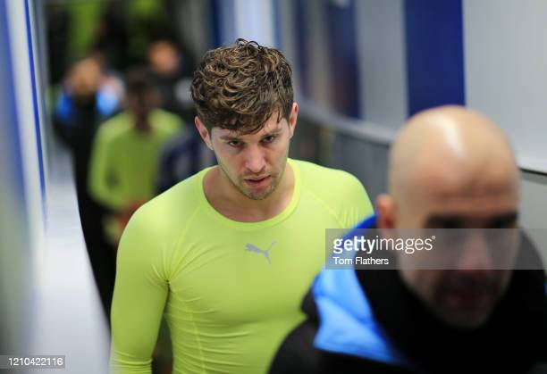 John Stones of Manchester City walks down the tunnel after the FA Cup Fifth Round match between Sheffield Wednesday and Manchester City at...
