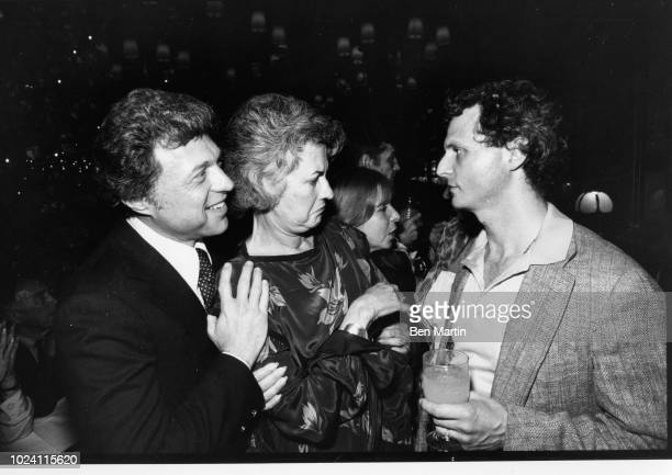 John Strasberg son of famed Actor's Studio teacher Lee Strasberg with actress Bea Arthur and singer Steve lawrence October 3rd 1980 Los Angeles US