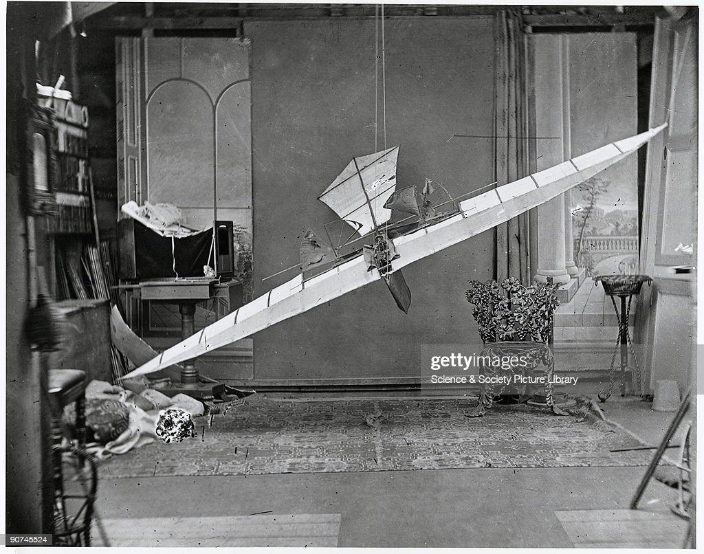 Stringfellows flying machine, 1848. : News Photo