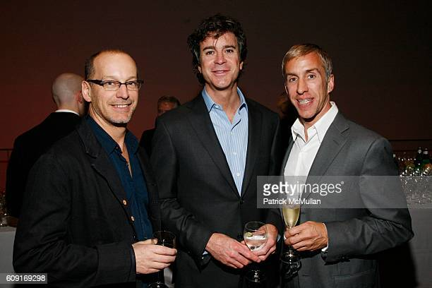 John Stryker, David Dechman and Michel Mercure attend Jeff Wall Exhibition Dinner at MoMa on February 20, 2007 in New York City.