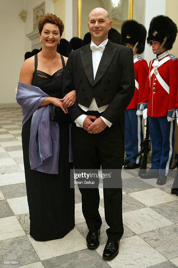 John Stuart Donaldson, brother of Mary Donaldson, and his wife attend a celebratory dinner at Christiansborg Palace on May 11, 2004 in honor of the upcoming wedding of Crown Prince Frederik to Miss Mary Elizabeth Donaldson on May 14th in Copenhagen, Denmark.