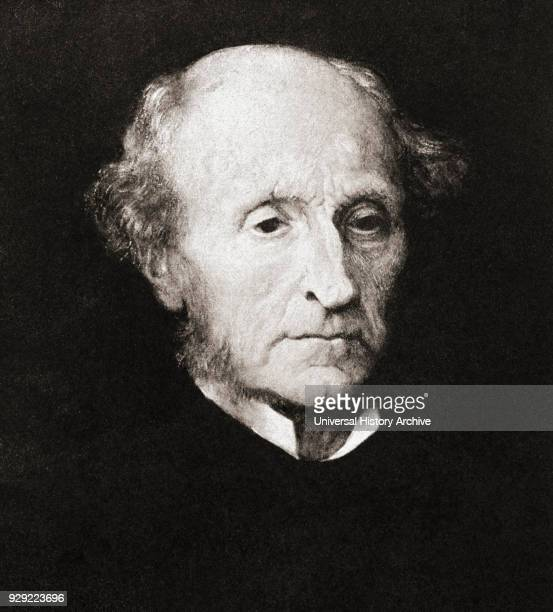 John Stuart Mill 1806 – 1873 English philosopher political economist feminist and civil servant After the painting by GFWatts From Impressions of...