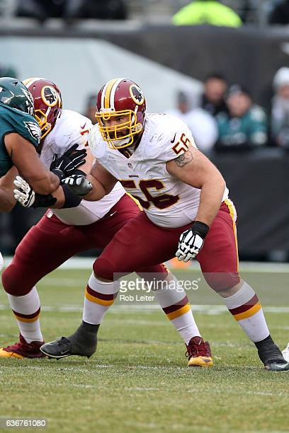 John Sullivan of the Washington Redskins in action during the game against the Philadelphia Eagles at Lincoln Financial Field on December 11 2016 in...