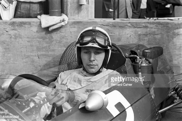John Surtees Ferrari 158 Grand Prix of Italy Monza 06 September 1964 Cool and concentrated John Surtees about to go out in his Ferrari 158