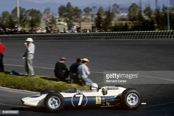John Surtees Ferrari 158 Grand Prix of Mexico Autodromo Hermanos Rodriguez 25 October 1964 Exceptionally the Ferrari cars were not red in the 1964...