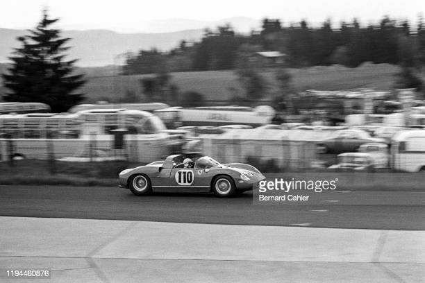 John Surtees, Ferrari 250 P, Nürburgring 1000 Kilometres, Nurburgring Nordschleife, 19 May 1963. John Surtees on the way to victory in the 1963...