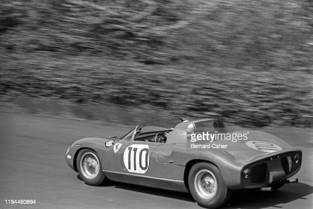 John Surtees, Ferrari 250 P, Nürburgring 1000 Kilometres, Nurburgring Nordschleife, 19 May 1963. John Surtees on the way to victory in the 1963...