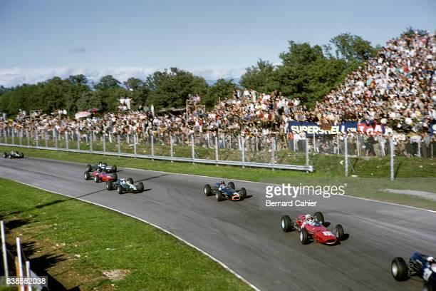 John Surtees Graham Hill Jim Clark Ferrari 1512 BRM P261 LotusClimax 33 Grand Prix of Italy Monza 12 September 1965