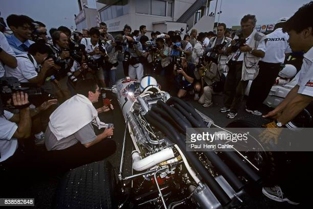 John Surtees Honda RA300 Grand Prix of Japan Suzuka 08 October 2000 John Surtees in the Honda RA300 with which he won the 1967 Italian Grand Prix in...