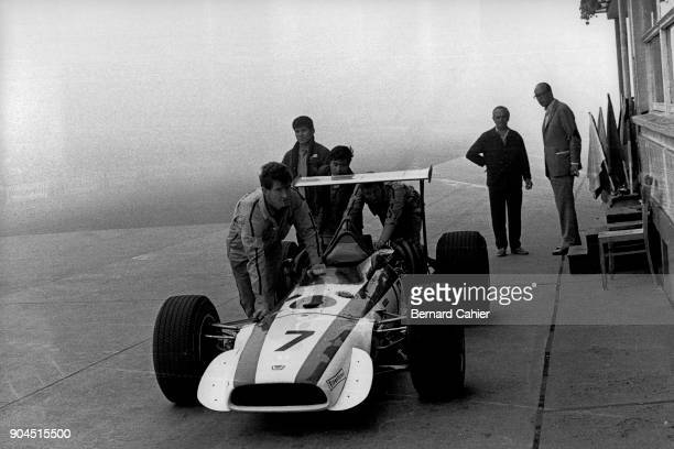 John Surtees Honda RA301 Grand Prix of Germany Nurburgring 04 August 1968 John Surtees' Honda being pushed by his mechanics
