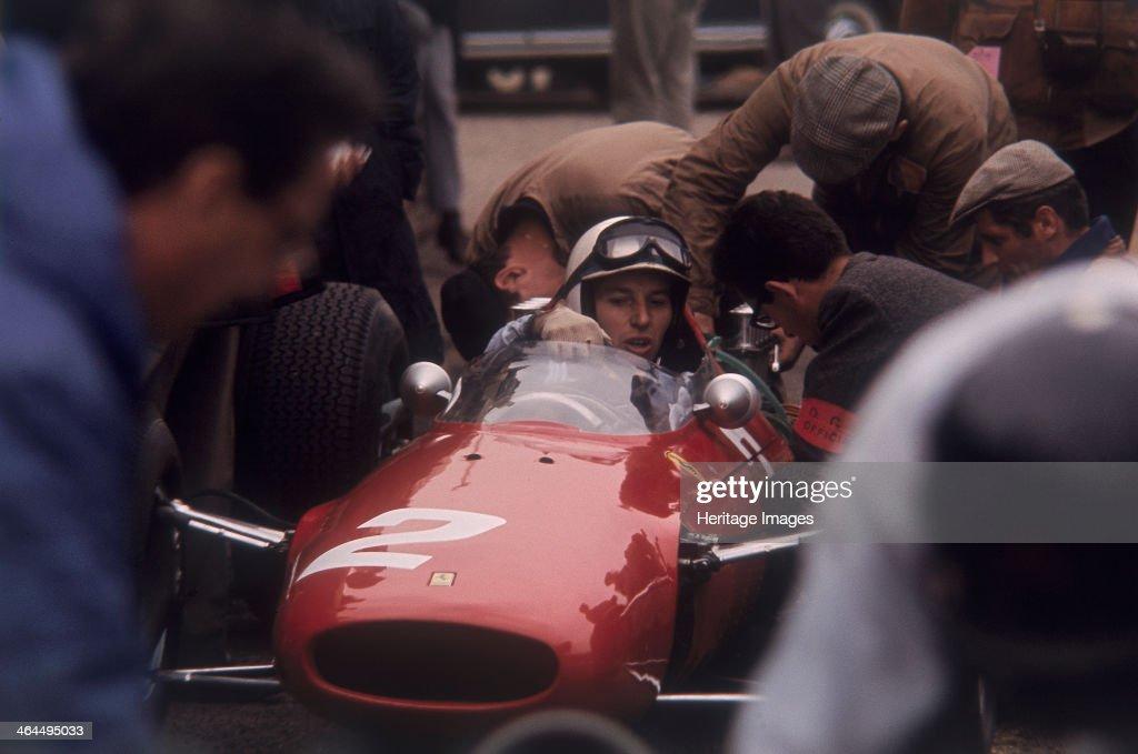 John Surtees in a Ferrari. : News Photo