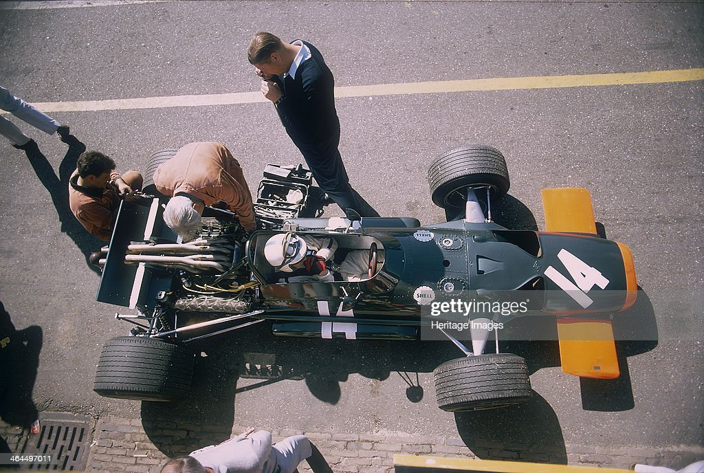 John Surtees in his BRM at the British Grand Prix, Silverstone, Northamptonshire, 1969. : News Photo