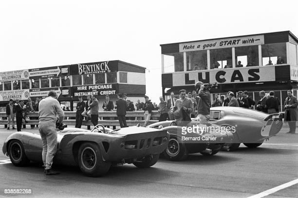 John Surtees Jim Clark Jack Sears Shelby Cobra Daytona Coupe LotusFord 30 LolaChevrolet T70 Tourist Trophy Oulton Park 01 May 1965