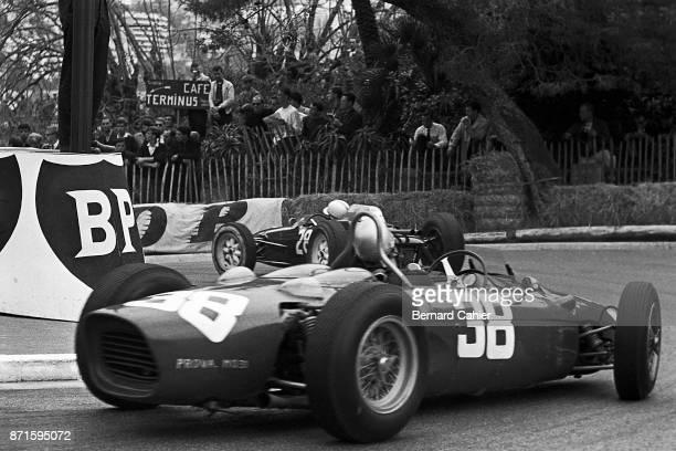 John Surtees Lorenzo Bandini LolaClimax Mk4 Ferrari 156 Grand Prix of Monaco Circuit de Monaco 03 June 1962
