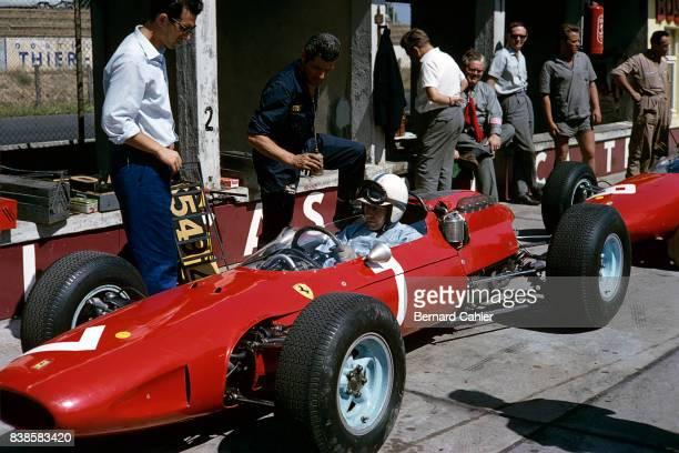 John Surtees Mauro Forghieri Ferrari 158 Grand Prix of Germany Nurburgring 02 August 1964