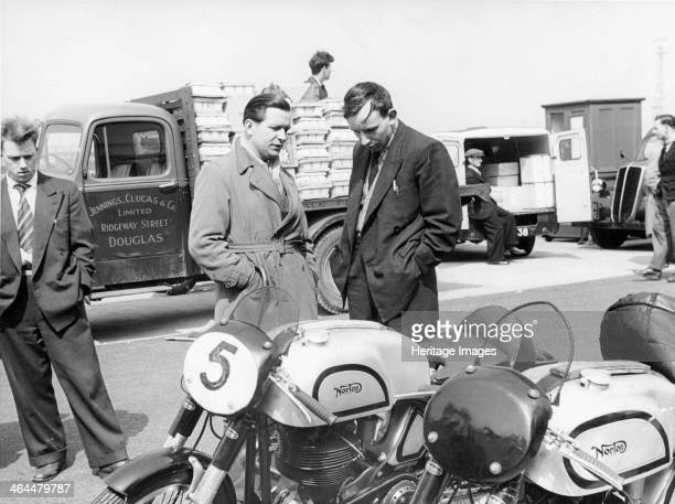 John Surtees with Norton motorcycles 1954 Surtees rode these machines in the Isle of Man TT races in 1954 finishing 11th in the Junior race and 15th...