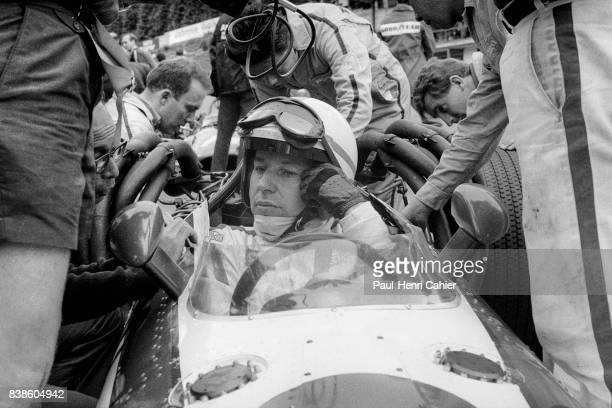 John Surtees Yoshio Nakamura Honda RA301 Grand Prix of Belgium Spa Francorchamps 09 June 1968 John Surtees in his V12 powered Honda RA301 discussing...