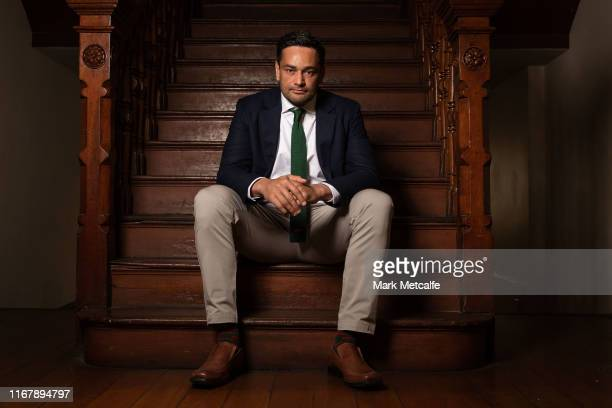John Sutton poses following a South Sydney Rabbitohs NRL press conference at Redfern Town Hall on August 14, 2019 in Sydney, Australia.