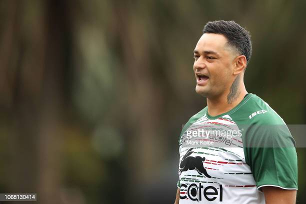 John Sutton watches on during a Sydney Rabbitohs training session at Redfern Oval at Redfern Oval on December 4 2018 in Sydney Australia