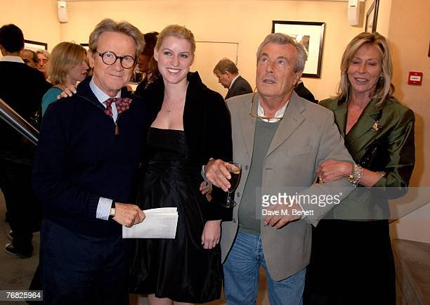 John Swannell with his daughter Terry O'Neil and Lorraine Ashton attend the private view of 'Terence Donovan Image Maker And Innovator' at the Chris...