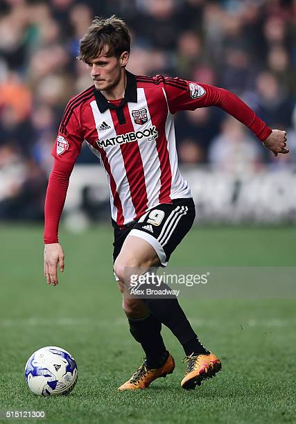 John Swift of Brentford in action during the Sky Bet Championship match between Queens Park Rangers and Brentford at Loftus Road on March 12 2016 in...