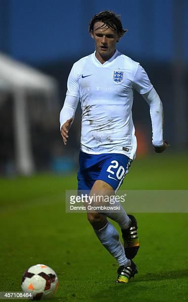 John Swift of England during the International Under 20 Tournament match between U20 Netherlands and U20 England at Sportpark Skoatterswald on...