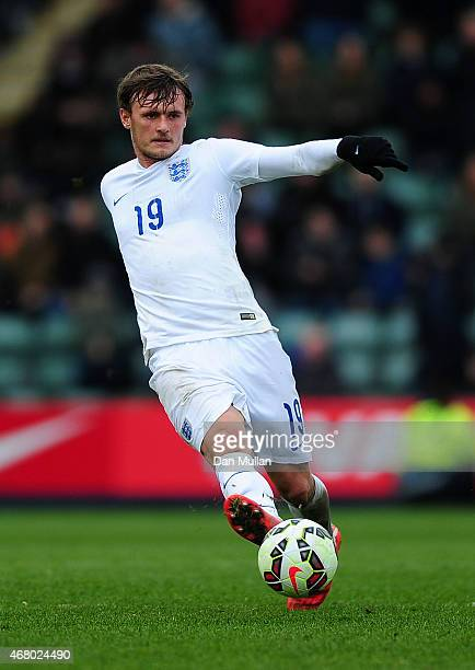 John Swift of England in action during the International Friendly match between England U20 and United States U20 at Home Park on March 29 2015 in...