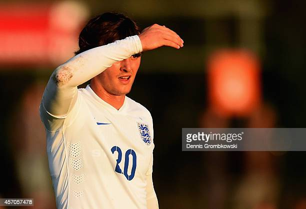 John Swift of England looks on during the International Under 20 Tournament match between U20 Netherlands and U20 England at Sportpark Skoatterswald...
